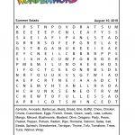 Summer Salads   Printable Puzzle Pdf