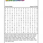 Summer Salads   Printable Puzzles Pdf