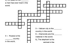 """Superlative Adjectives Worksheet   """"in The World"""" Crossword Puzzle   Dog Crossword Puzzle Printable"""