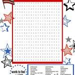 Superstar Celebration: July 4Th Word Search Printable | Scholastic   Printable July 4Th Puzzles