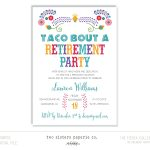Taco Bout A Retirement Party Invitation Fiesta Collection | Etsy   Printable Dropdown Puzzles