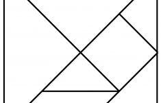 Tanagram Template | Brain Games | Wiskunde Spelletjes, Wiskunde   Printable Tangram Puzzle Templates