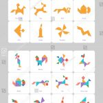 Tangram Set Task Solution Cards Captions Stock Vector (Royalty Free   Printable Tangram Puzzles And Solutions