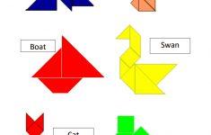 Tangram Templates.pdf | Math | Tangram Puzzles, Math Games, Puzzle   Printable Tangram Puzzles And Solutions