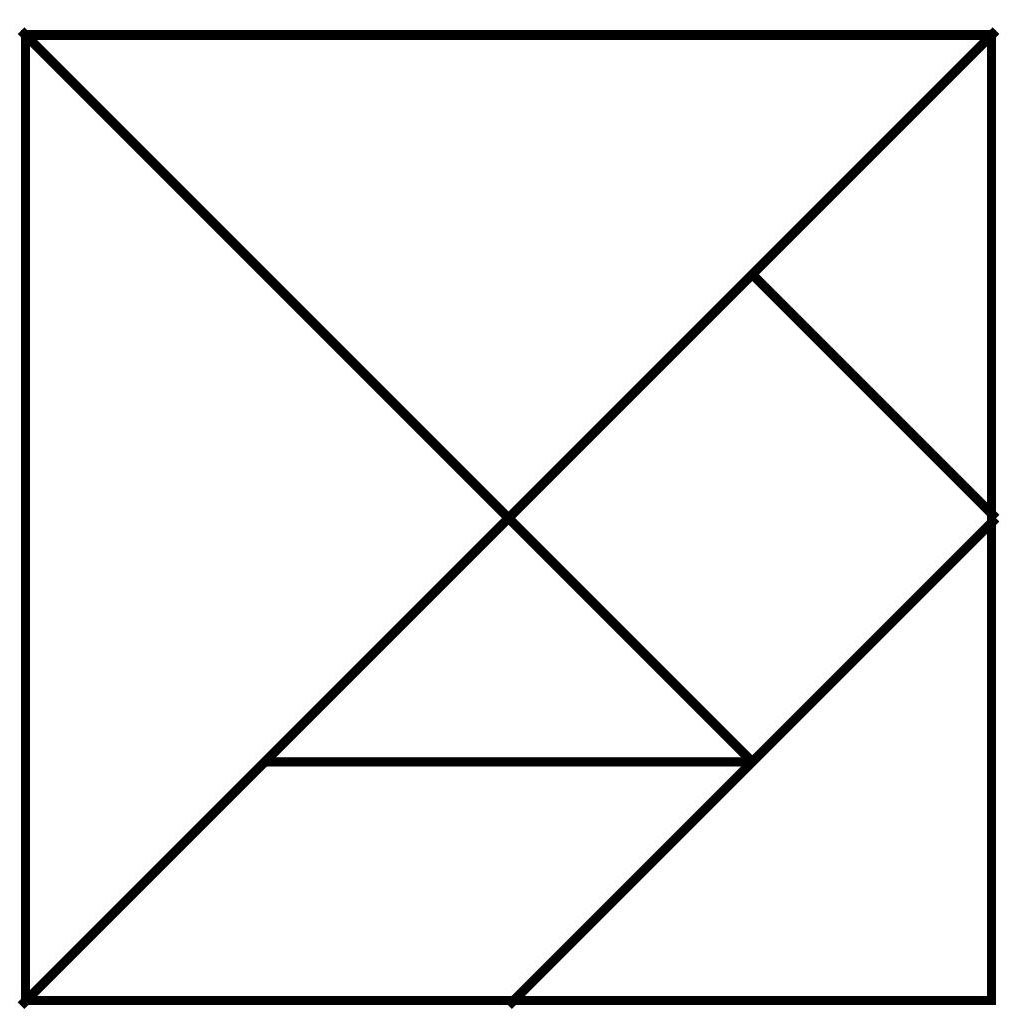 Tangrams Template Pictures >> Shape Math Pinterest Math Learning And - Printable Tangram Puzzle Outlines