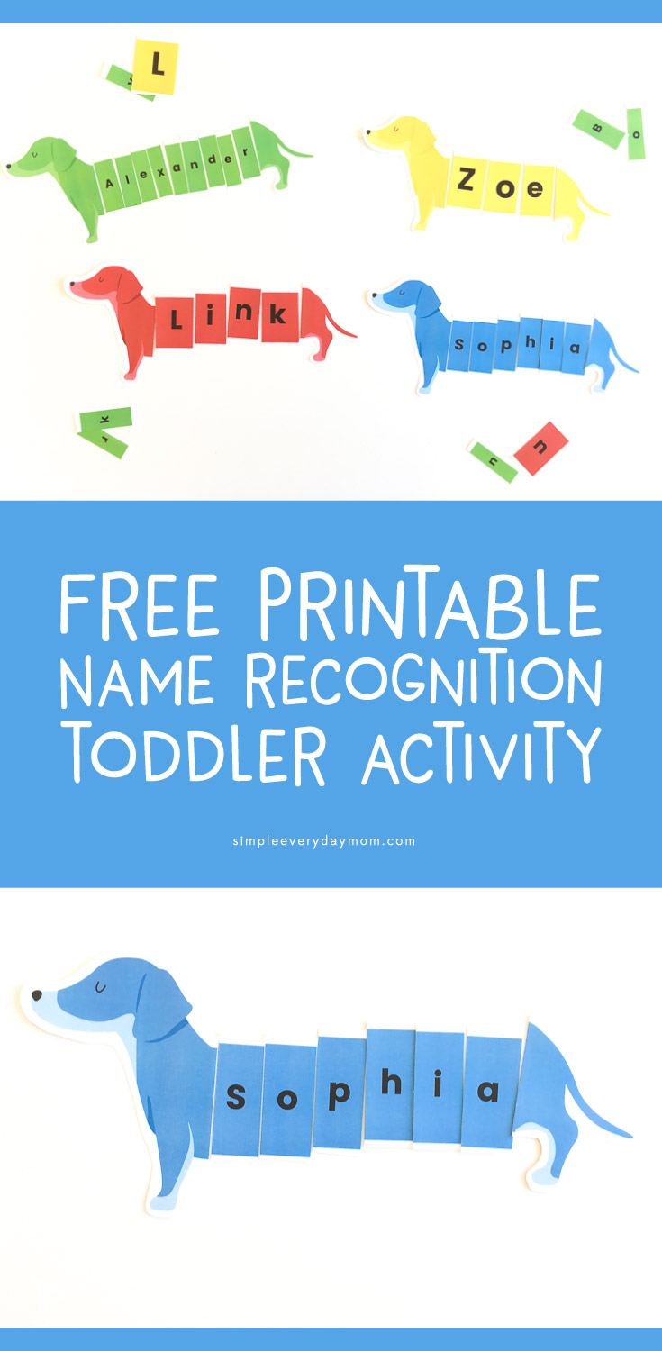 Teach Your Child Their Name With This Free Dog Name Activity - Printable Name Puzzles For Preschoolers