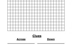 Template For Crossword Puzzle. Crossword Template Daily Dose Of   Printable Blank Crossword