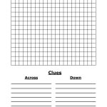 Template For Crossword Puzzle. Crossword Template Daily Dose Of   Printable Blank Crossword Puzzles