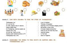 Thanksgiving Activities Worksheet   Free Esl Printable Worksheets   Printable Thanksgiving Puzzles For Adults