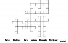 Thanksgiving Crossword Puzzle Printable With Word Bank   Printable November Puzzles