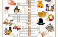 Thanksgiving Crossword Puzzle Worksheet   Free Esl Printable   Free Thanksgiving Crossword Puzzles Printable