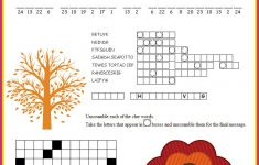Thanksgiving Puzzles Printables | *holidays We Celebrate   Thanksgiving Crossword Puzzle Printable