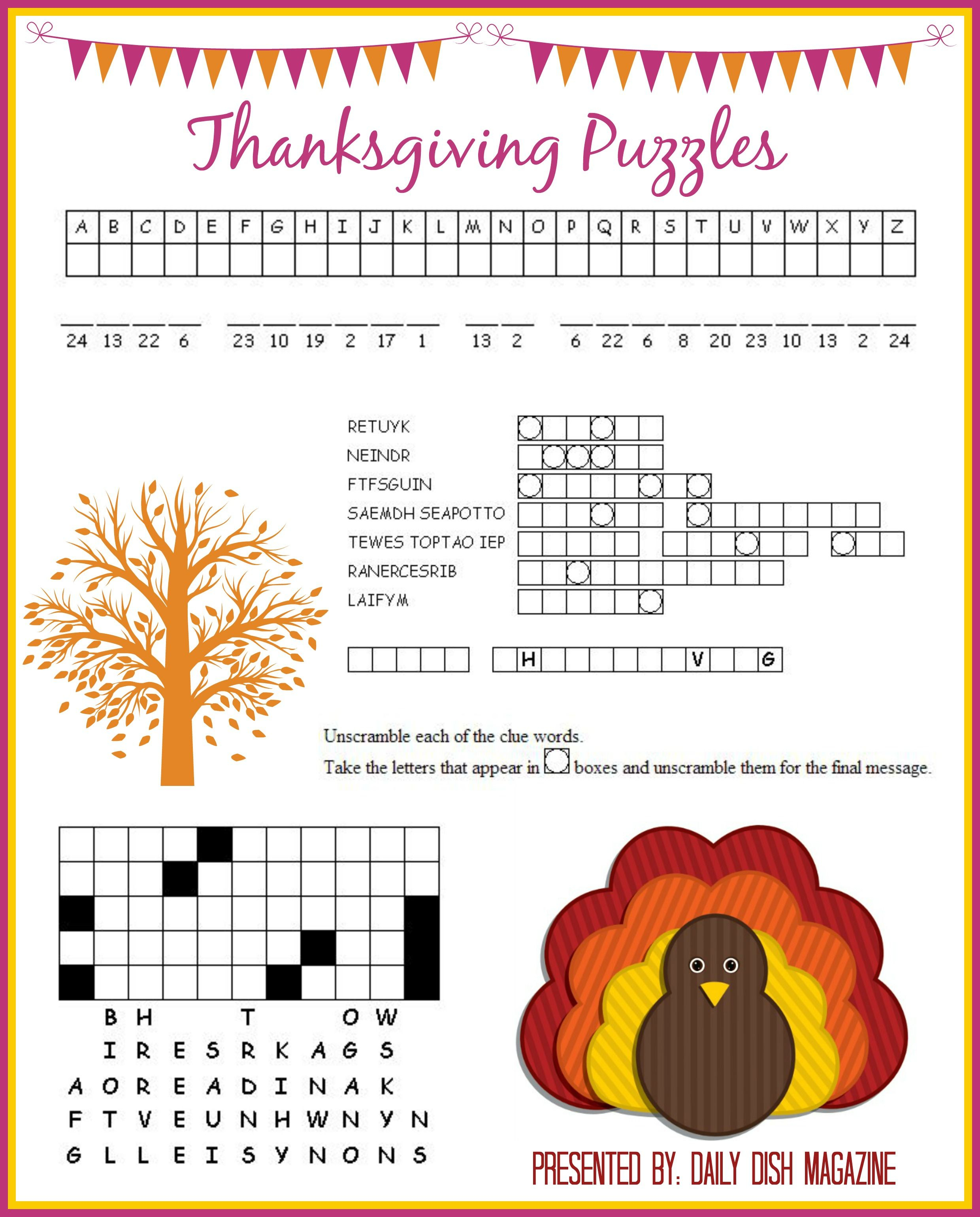 Thanksgiving Puzzles Printables | *holidays We Celebrate - Thanksgiving Crossword Puzzle Printable