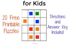 The Activity Mom   Color Sudoku Puzzles For Kids   The Activity Mom   Printable Sudoku Puzzle With Answer Key