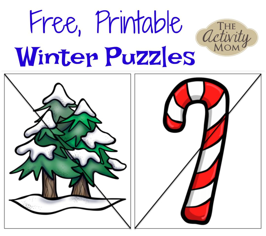 The Activity Mom - Free Printable Winter Puzzles - The Activity Mom - Printable Puzzles Winter