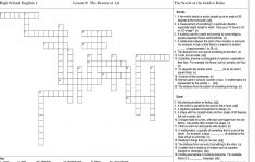 The Beauty Of Art Crossword Puzzle Worksheet   Free Esl Printable   Printable Crossword Puzzles For High School English