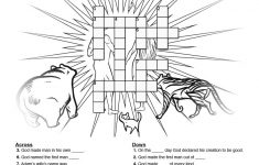 The Creation Story Sunday School Crossword Puzzle: Search For Clues   Printable Thomas Joseph Crossword Answers