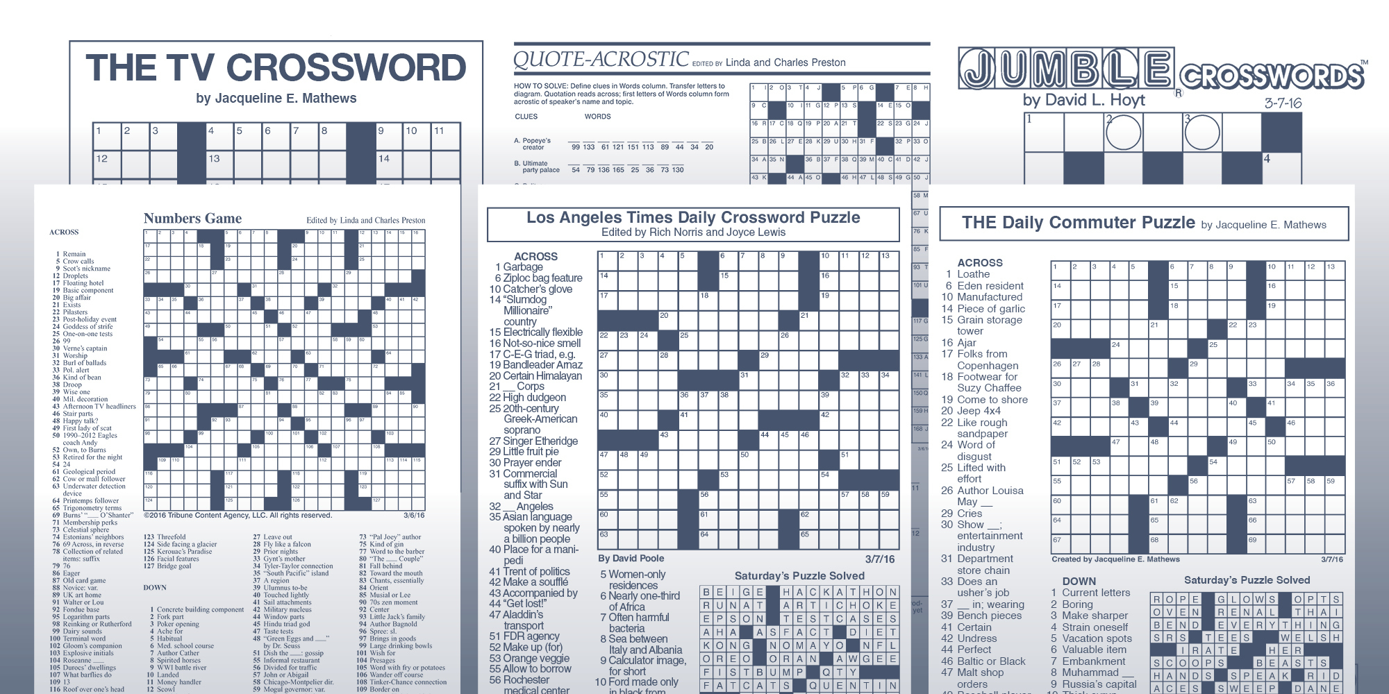 The Daily Commuter Puzzlejackie Mathews | Tribune Content Agency - Printable Commuter Crossword Puzzles
