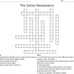 The Italian Renaissance Crossword   Wordmint   Printable Italian Crossword Puzzles