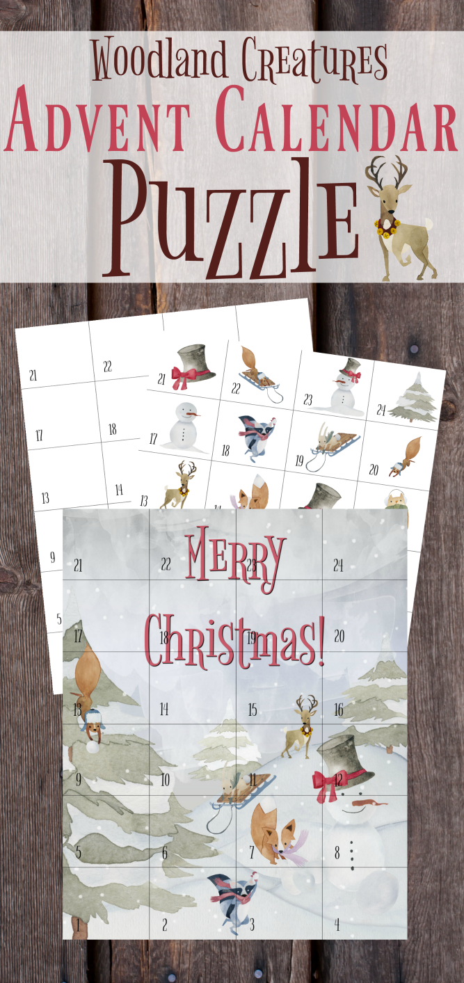 The Life Of Jennifer Dawn: Christmas Advent Calendar Puzzle - Printable Advent Puzzle
