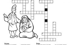 The Lord's Prayer Sunday School Crossword Puzzles: Each Stanza Of   Free Printable Sunday School Crossword Puzzles