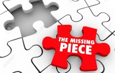 The Missing Piece Words On A Red Puzzle Piece To Complete A Puzzle   Print Missing Puzzle Piece
