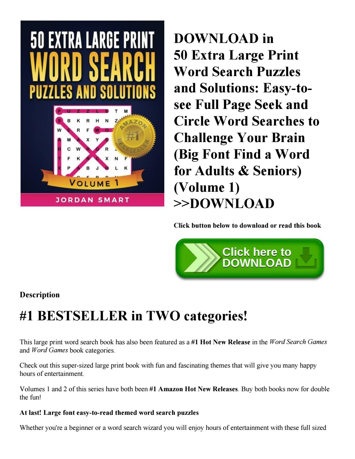 The Most Effortless Large Print Word Search Puzzles Design | Isabella - Large Print Crossword Puzzles Visually Impaired