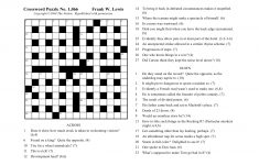 The Nation Cryptic Crossword Forum: Nat Hentoff (Puzzle No. 1,066)   Printable Diagramless Crossword Puzzles