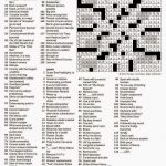 The New York Times Crossword In Gothic: February 2015   La Times Crossword Puzzle Printable Version