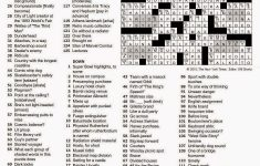 The New York Times Crossword In Gothic   Printable La Times Crossword 2017