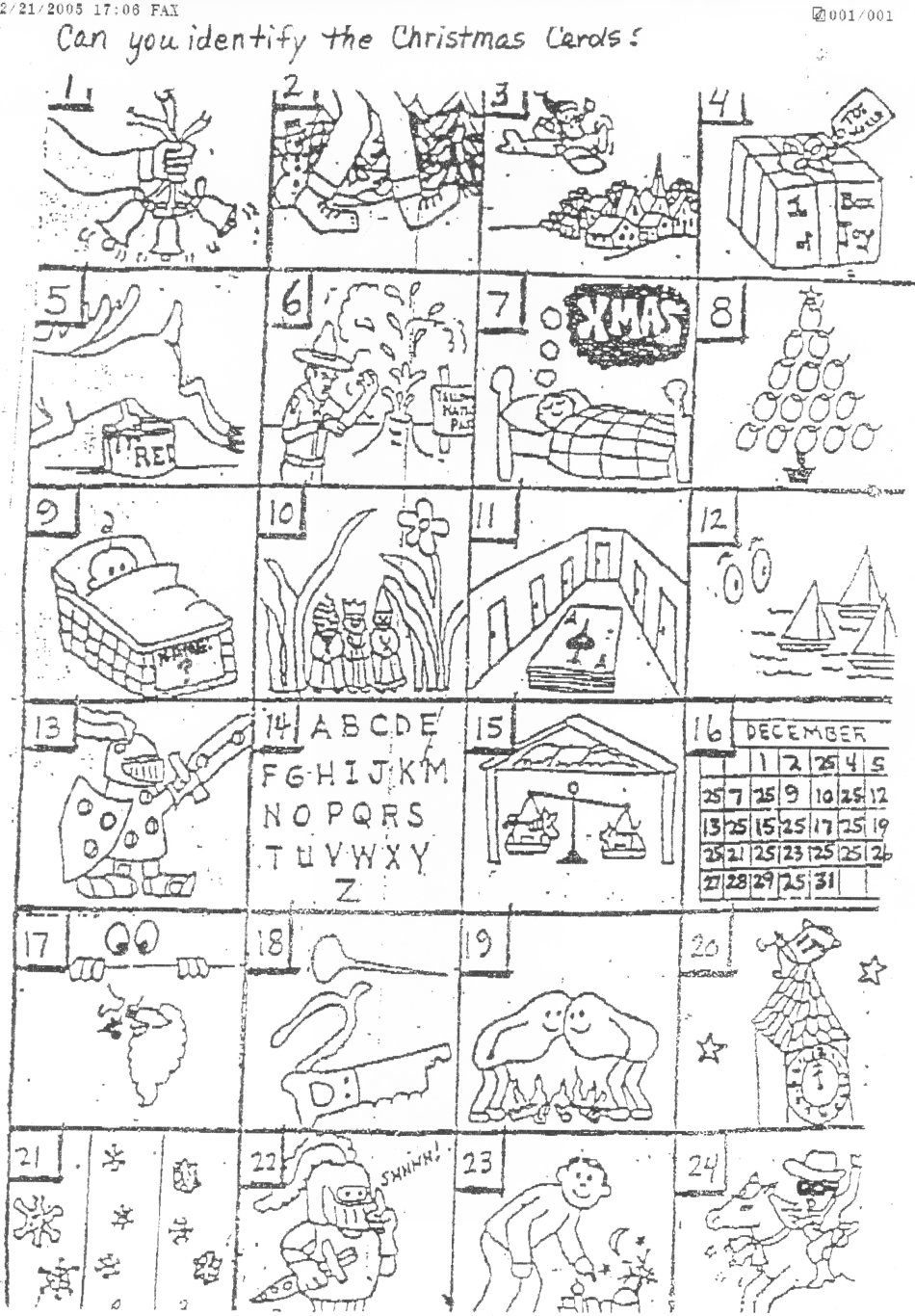 The Original Puzzle - Printable Christmas Rebus Puzzles