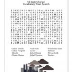The Science Of Global Warming And Climate Change   An Elementary   Global Warming Crossword Puzzle Printable