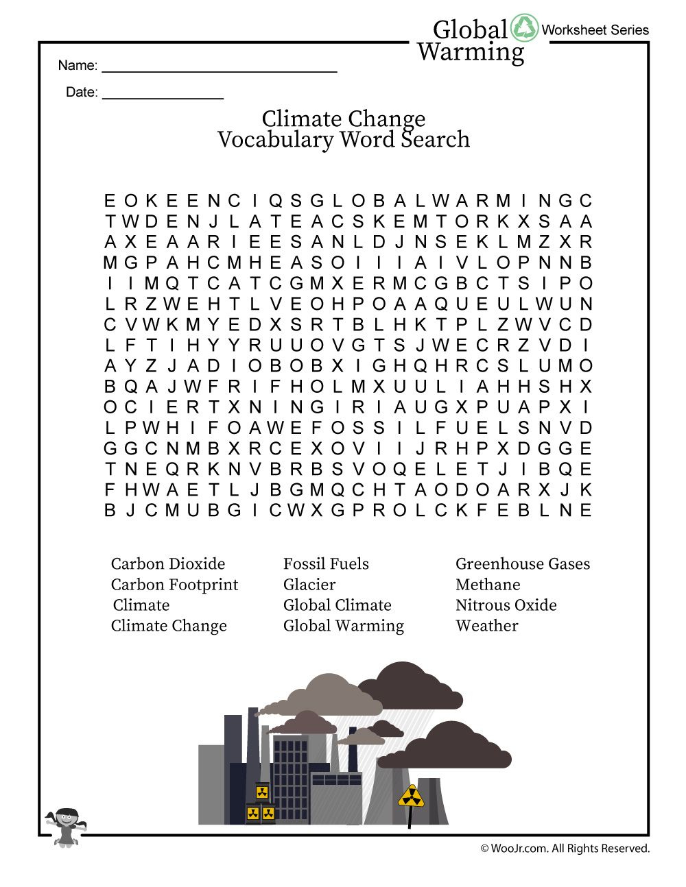 The Science Of Global Warming And Climate Change - An Elementary - Global Warming Crossword Puzzle Printable