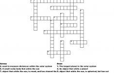 The Solar System Crossword   Wordmint   Solar System Crossword Puzzle Printable