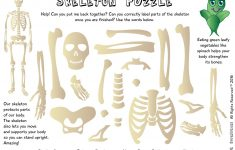 The Superveges   Vitamins And Minerals For A Healthy Body: Free   Printable Skeleton Puzzle