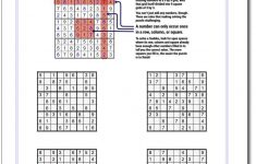 These Printable Sudoku Puzzles Range From Easy To Hard, Including   Printable Puzzles For Adults Pdf