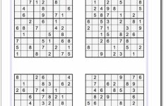 These Printable Sudoku Puzzles Range From Easy To Hard, Including   Printable Sudoku Puzzles For Adults