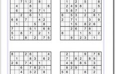 These Printable Sudoku Puzzles Range From Easy To Hard, Including   Printable Sudoku Puzzles Hard