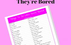 Things To Do When You Are Bored: 50+ Ideas And Free Printable   Printable Puzzles To Do When Bored