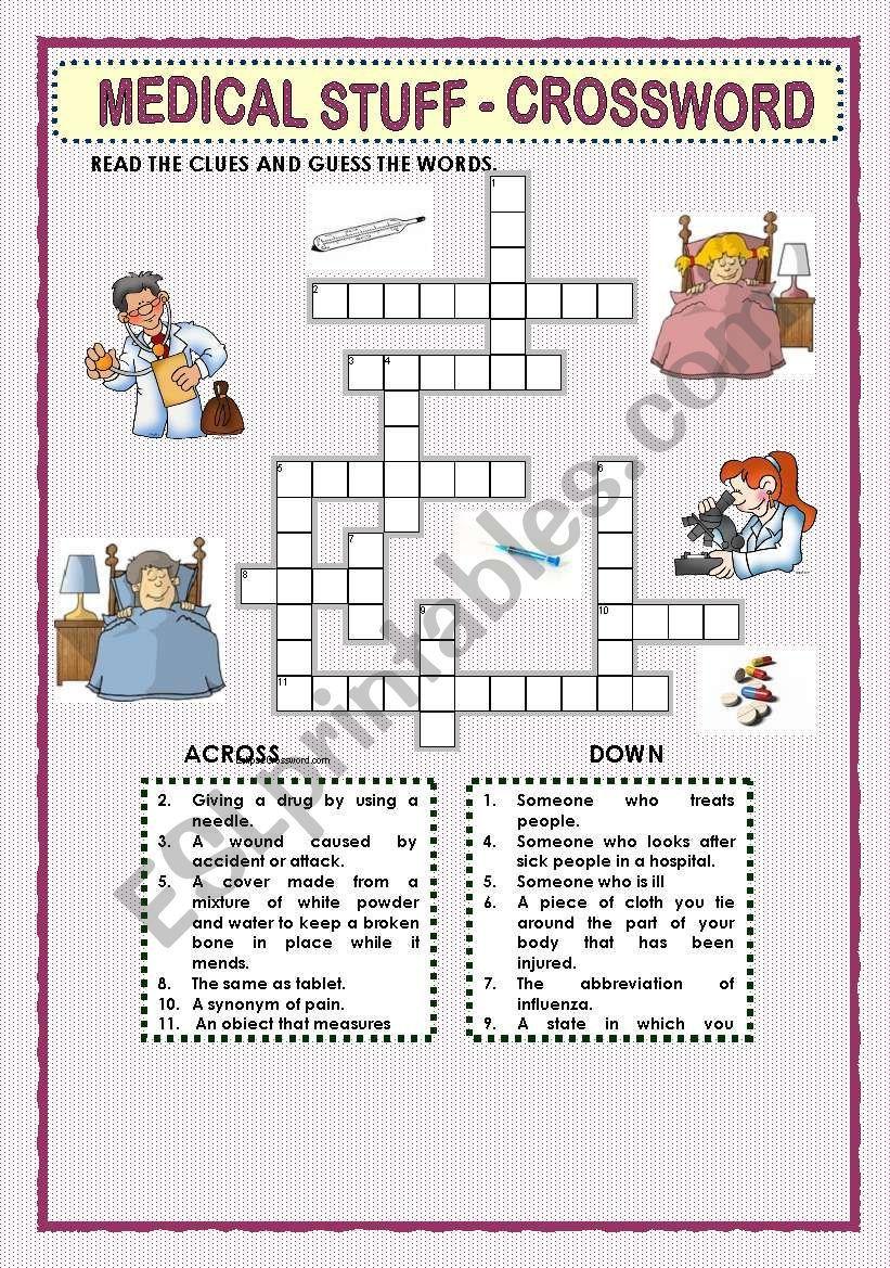 This Crossword Puzzle Was Created With Eclipse Crossword. | Nurses - Printable Grey's Anatomy Crossword Puzzles