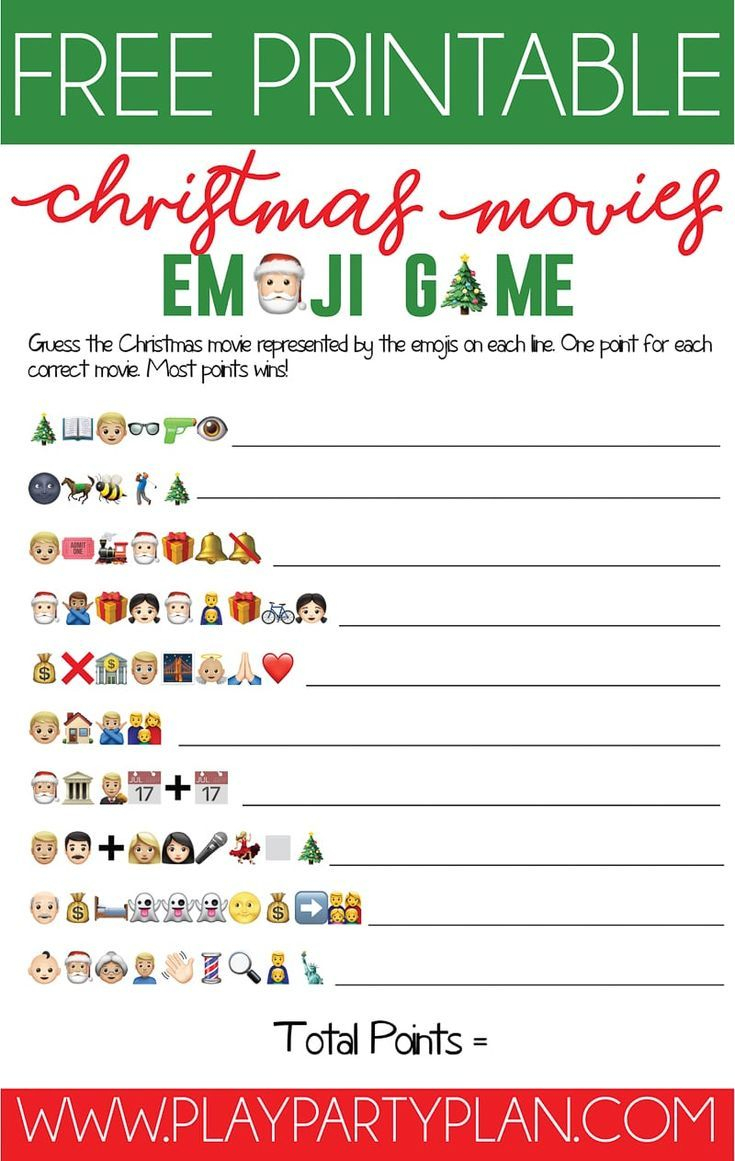 This Free Printable Christmas Emoji Game Is One Of The Most Fun - Printable Emoji Puzzles