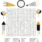 This Fun New Year's Word Search Printable Puzzle Is A Ton Of Fun For   Printable Drop Quote Puzzles