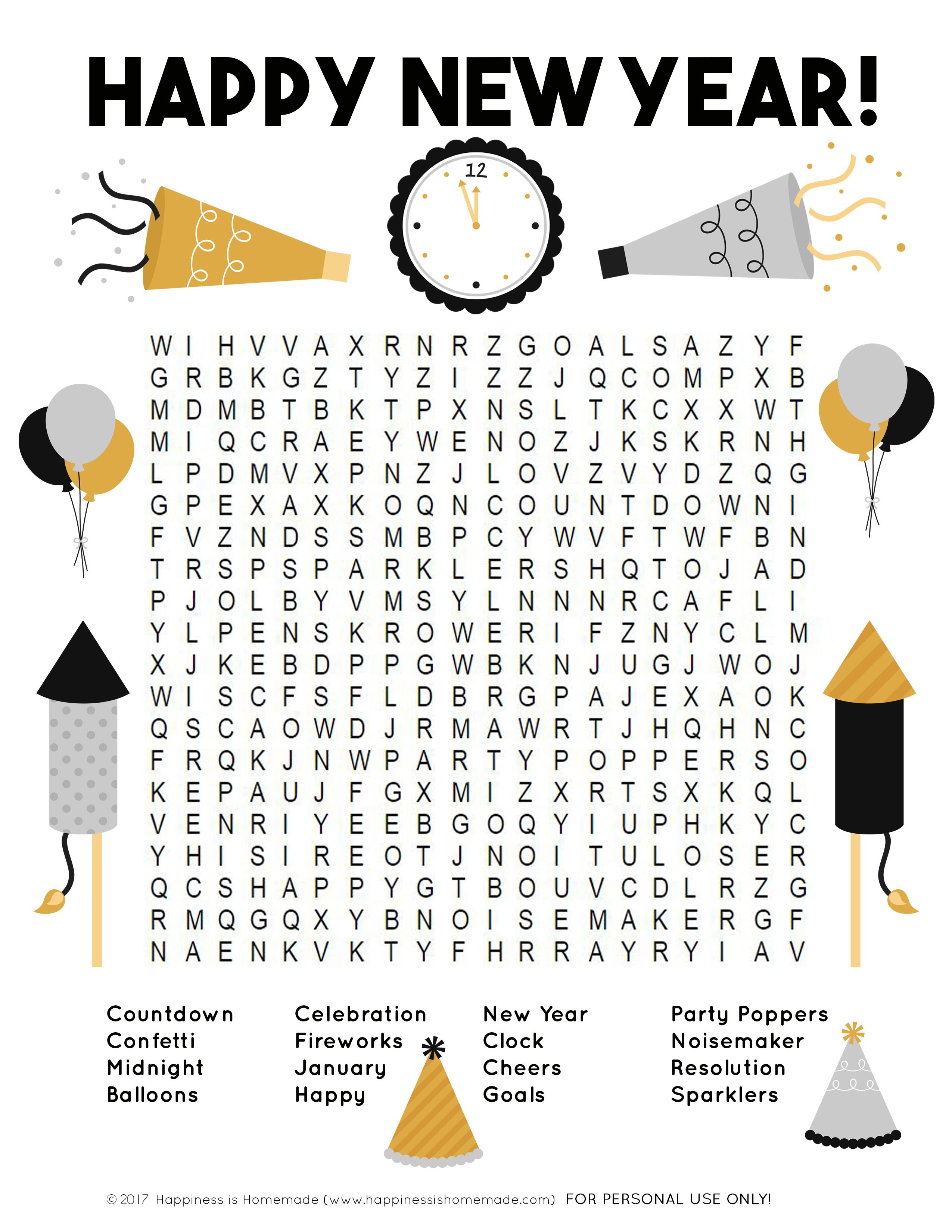 This Fun New Year's Word Search Printable Puzzle Is A Ton Of Fun For - Printable Drop Quote Puzzles