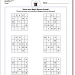 This Page Has 3X3, 4X4 And 5X5 Magic Square Worksheets That Will Get   Printable Deduction Puzzle