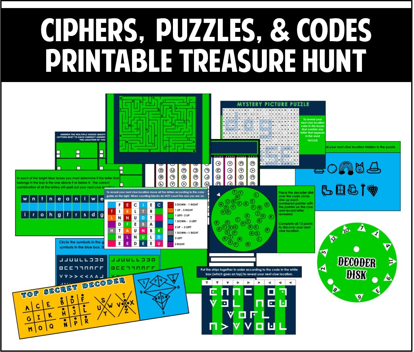 This Printable Treasure Hunt Is All About Ciphers, Puzzles, And - Printable Escape Room Puzzle
