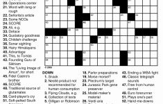 Thomas Joseph Crossword Puzzles Printable – Insightsonline   Daily Crossword Puzzle Printable Thomas Joseph