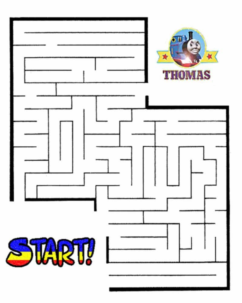 Thomas The Train Halloween Worksheets For Kids | Printable Maze - Printable Train Puzzle