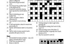 Thursday's Dominion Post Puzzles Online   Stuff.co.nz   Printable Cryptic Crossword Puzzles Nz