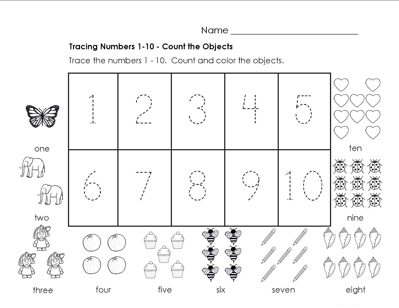 Traceable Numbers 1-10 Worksheets To Print | Activity Shelter - Printable Number Puzzles 1-10