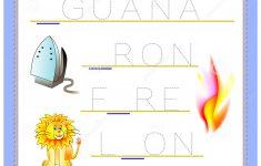 Tracing Letter I For Study English Alphabet. Printable Worksheet For   Printable Puzzle Games For Kindergarten